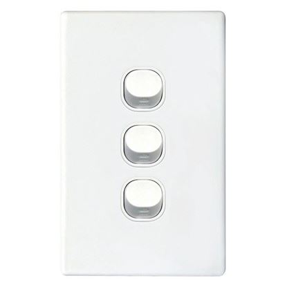 Picture of TRADESAVE 16A 2-Way Vertical 3 Gang Switch. Moulded in Flame Resistant