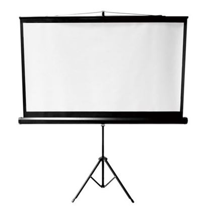 "Picture of BRATECK 100"" Projector Screen with Tripod. 4:3  Aspect Ratio."