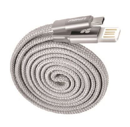 Picture of PROMATE 1m USB Cable. USB-A to Lightning Connector. Highly Durable
