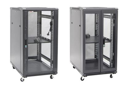 Picture of DYNAMIX 22RU Server Cabinet 1000mm Deep (600 x 1000 x 1190mm). Incl. 1