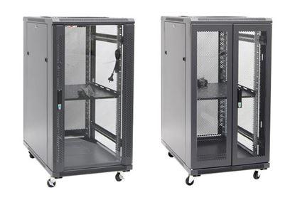 Picture of DYNAMIX 22RU Server Cabinet 600mm Deep (600 x 600 x 1190mm). Incl. 1x