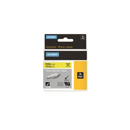 Picture of DYMO Genuine Rhino Industrial Labels- HeatShrink Tube 6mm Black
