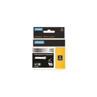Picture of DYMO Genuine Rhino Industrial Labels -Permanent Polyester 12mm,