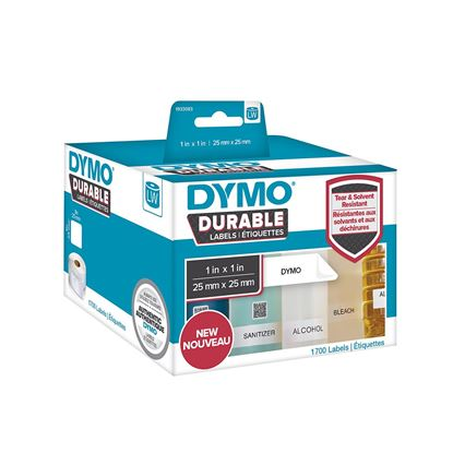 Picture of DYMO Genuine Durable LabelWriter Labels,25mm x 25mm White Poly,