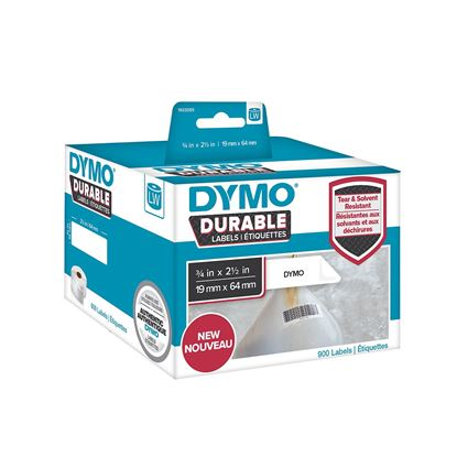 Picture of DYMO Genuine Durable LabelWriter Labels, 19mm x 64mm White Poly,