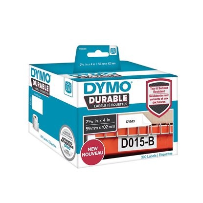 Picture of DYMO Genuine Durable LabelWriter Labels, 59mm x 102mm White Poly,