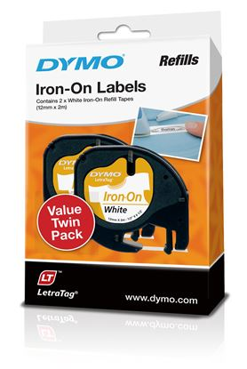 Picture of DYMO Genuine  LetraTag Labeller Iron-On 2PK Tape. 12mm x 2M.