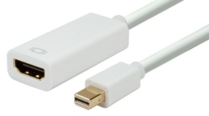 Picture of DYNAMIX Mini DisplayPort to HDMI Cable Convertor. Max Res 4K@30Hz