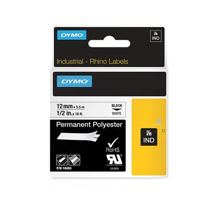 Picture of DYMO Genuine Rhino Industrial Labels-Permanent Polyester 12mm,