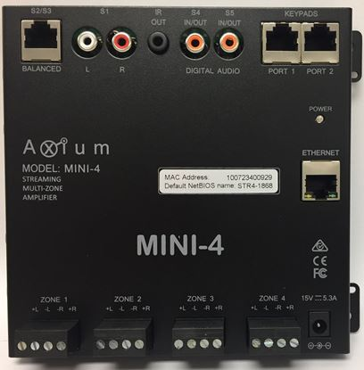 Picture of AXIUM MINI 4 Multiroom / Streaming Amplifier, 4 POWERED ZONES