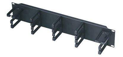 "Picture of DYNAMIX 19"" 2RU Cable Management Bar 70mm Deep."