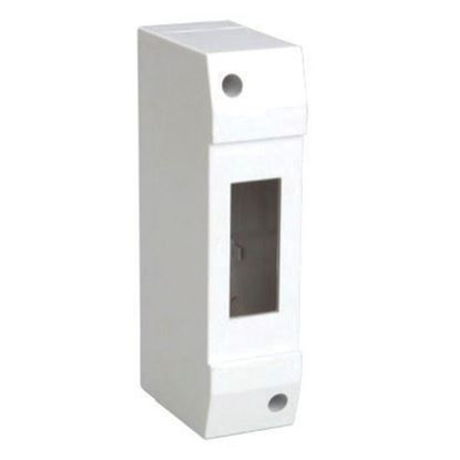 Picture of TRADESAVE Surface Mounted DIN Rail Enclosure, 1 pole, Moulded base
