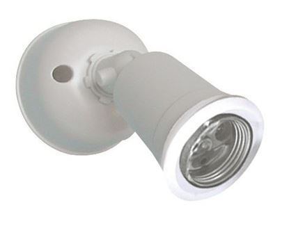 Picture of HOUSEWATCH Single PVC Lamp Holder Pack E27. IP44. Wall/Ceiling