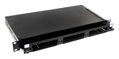 Picture of DYNAMIX 19' 1U Fibre Patch Panel 3x Slot Ver5. Metal Sliding Drawer