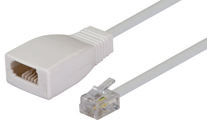 Picture of DYNAMIX 0.08m Cable-BT Socket to RJ11 Plug (for Phone to Modem