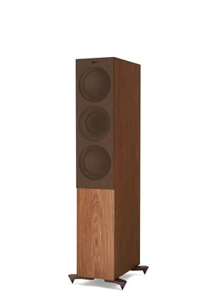Picture of KEF Microfibre Grilles to fit KEF R7. Colour - Brown. SOLD AS A PAIR