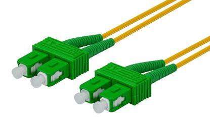 Picture of DYNAMIX 0.5M 9u SC APC/SC APC Duplex Single-mode OS2 G657A1 Bend