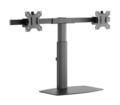 Picture of BRATECK 17'-27' Dual Screen Vertical Lift Monitor Stand. Easy
