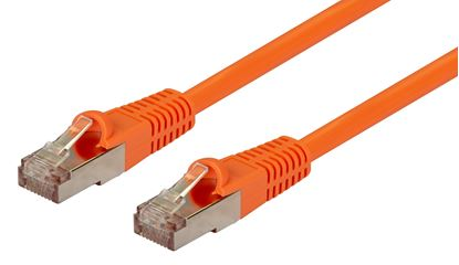Picture of DYNAMIX 0.75m Cat6A Orange SFTP 10G Patch Lead. (Cat6 Augmented) 500MHz