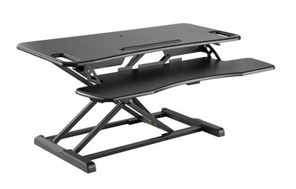 Picture of BRATECK Gas-Spring Scissor lift Desktop Sit-Stand Workstation.