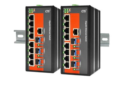 Picture of CTC UNION 16 Port Fast Ethernet Managed Switch.  -40C~+75C.