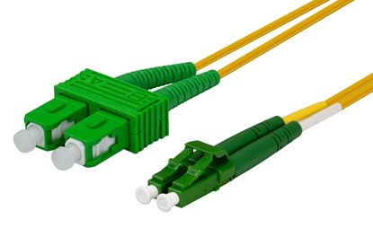 Picture of DYNAMIX 5M 9u LC APC/SC APC Duplex Single Mode G657A1 Bend Insensitive