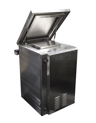 Picture of DYNAMIX 24RU Stainless Vented Outdoor Wall Mount Cabinet (610 x