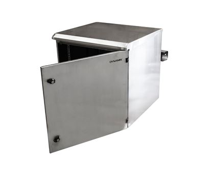 Picture of DYNAMIX 9RU Stainless Outdoor Wall Mount Cabinet (611 x 425 x