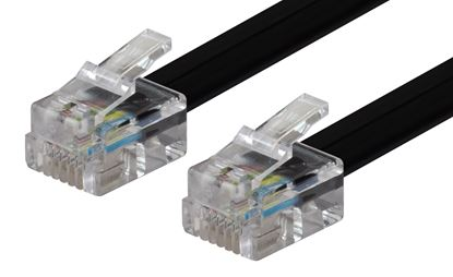 Picture of DYNAMIX 10m RJ12 to RJ12 Cable - 6C All pins connected straight