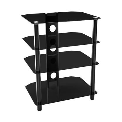 Picture of BRATECK 4-Tier Glass Hi-Fi Entertainment Unit. 40kg Max load.