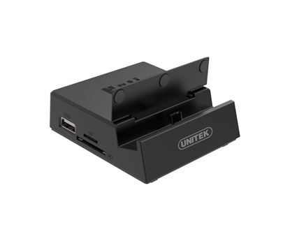 Picture of UNITEK USB-C Desktop Multimedia Docking Station. 3x USB2.0 Ports,