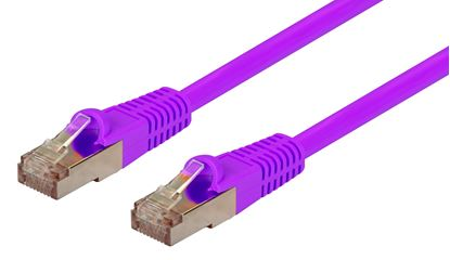 Picture of DYNAMIX 1m Cat6A Purple SFTP 10G Patch Lead. (Cat6 Augmented) 500MHz