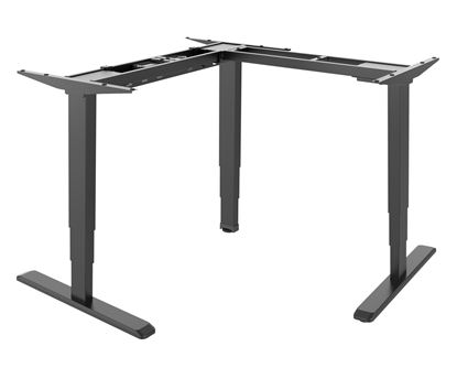 Picture of BRATECK L-Shape Electric Sit-Stand Desk Frame with Triple Motors.