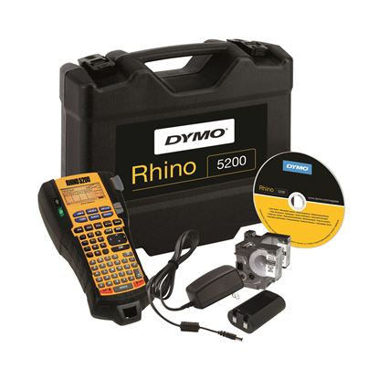 Picture of DYMO Rhino 5200 Industrial Labeller Hard Case Kit,Hot-keys to print