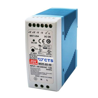 Picture of CTS 48V/60W DIN Rail Mount Power Supply with Short circuit,