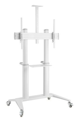 """Picture of BRATECK 70""""-120"""" Large Screen Ultra-strong Mobile TV Cart."""