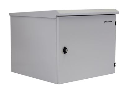 Picture of DYNAMIX 9RU Outdoor Wall Mount Cabinet. External Dims 611x525x515.
