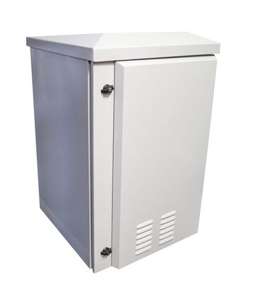 Picture of DYNAMIX 24RU Vented Outdoor Wall Mount Cabinet. Ext Dim 611x433x1235