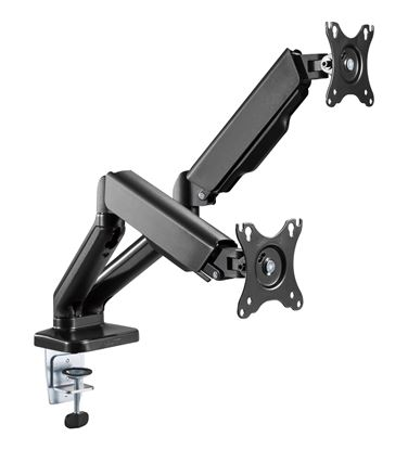 Picture of BRATECK Elegant Dual 13'-27' Counter Balance Monitor Desk Mount.