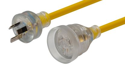 Picture of DYNAMIX 10M 240v Heavy Duty Power Extension Lead (3 Core 1.0mm)