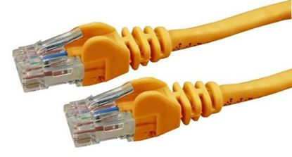 Picture of DYNAMIX 1m Cat6 Orange UTP Patch Lead (T568A Specification) 250MHz