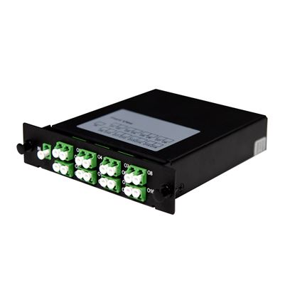 Picture of DYNAMIX PLC Fibre Optic 1:16 LC/APC Splitter Cassette Module.