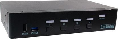 Picture of REXTRON 4 Port USB-A KVM Switch with Audio & Hotkey Control.