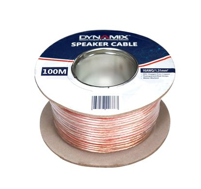 Picture of DYNAMIX 100m 16AWG/1.31mm Speaker Cable, OFC 25/025BCx2C,