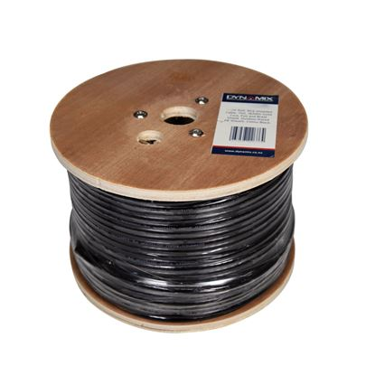 Picture of DYNAMIX 305m Roll RG6 Shielded Cable. Black. 75ohm. 16AWG solid