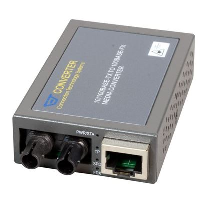 Picture of CTS 10/100Base-TX to 100Base-FX ST Multimode Media Converter.
