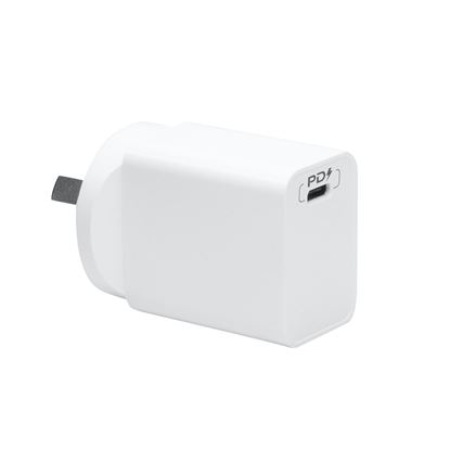 Picture of DYNAMIX 18W PD USB-C Universal Compact USB Wall Charger. Supports