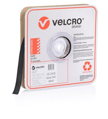Picture of VELCRO One-Wrap 19mm Continuous 22.8m Roll. Custom Cut to Length.