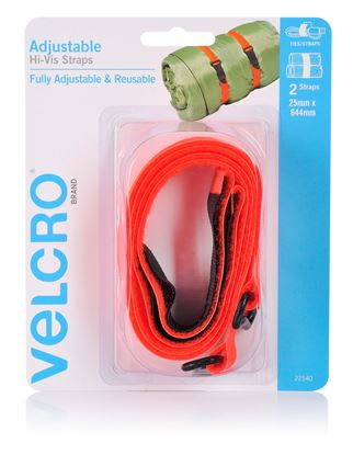 Picture of VELCRO Brand 25mm x 644mm 2 Pack Adjustable & Reusable Hi-Vis Straps