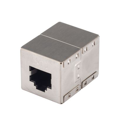 Picture of DYNAMIX Cat6A 10G Shielded joiner, RJ45 8C, 2-Way (2x RJ45 Sockets)